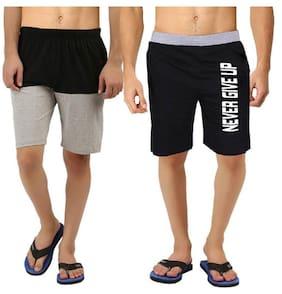 :Hotfits Self Design Men's Multicolor Basic Shorts