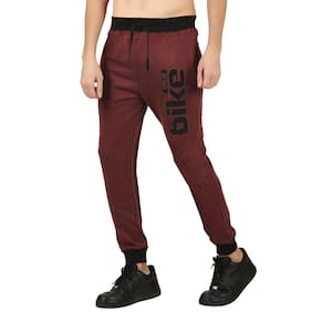HOTFITS Men Cotton Track Pants - Maroon