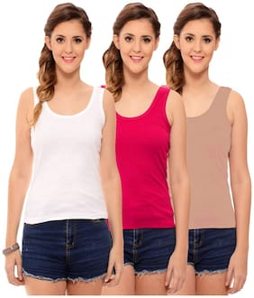 Hothy Women's Multicolor Camisole (Pack Of 3)