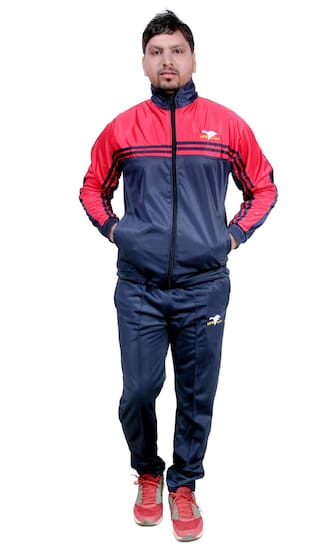 27923cb6e79 Buy HPS Sports Men Polyester Blend Track Suit - Blue Online at Low ...