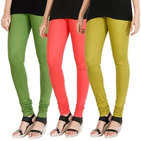 Hrinkar Cotton Leggings - Green