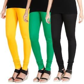 Hrinkar Cotton Leggings - Yellow
