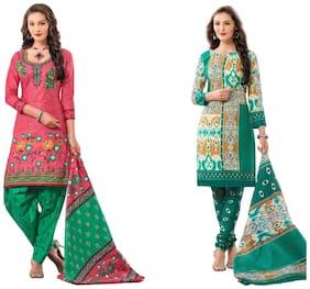 HRINKAR 2.5 m Salwar Suit Dupatta \ Churidar Suit Material 2 Set Combo - HKRCMB1438