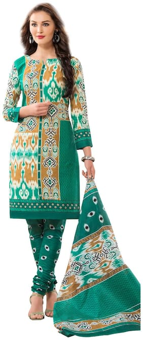 HRINKAR Latest Unstitched Cotton Dress Material Churidar Suit for Women - HRKT1407
