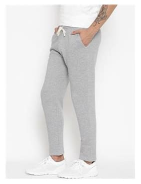 Hubberholme Men Cotton Track Pants - Grey