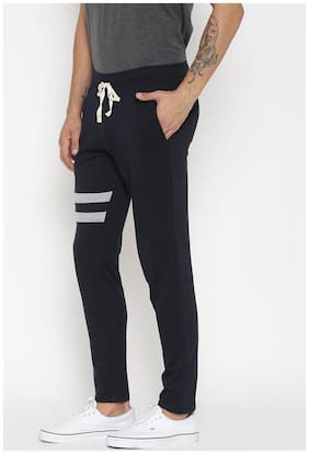 Hubberholme Men Cotton Track Pants - Black