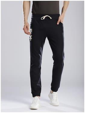 Hubberholme Men Cotton blend Track Pants - Blue