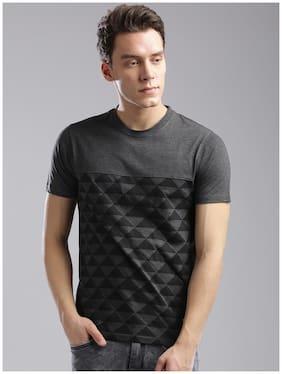 Men Crew Neck Geometric T-Shirt