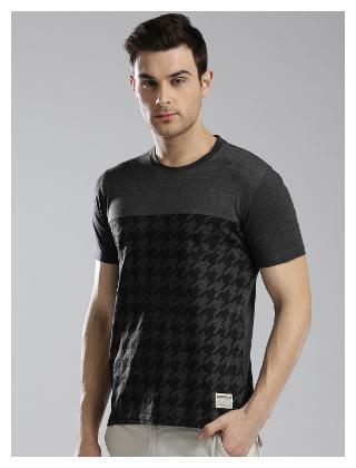 Hubberholme Men Black Regular fit Cotton Round neck T-Shirt - Pack Of 2