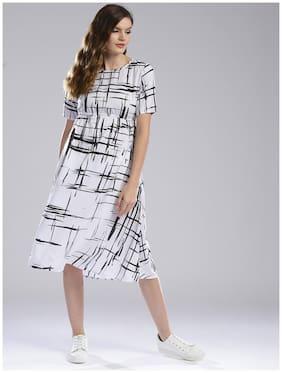 Women Printed A Line Kurti Dress