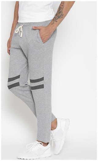 Hubberholme Men Grey Solid Slim fit Track pants