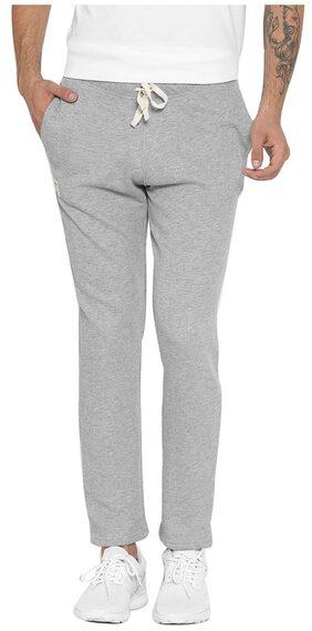 Hubberholme Men Cotton Blend Track Pants - Grey