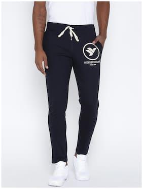 Hubberholme Men Cotton Track Pants - Navy Blue