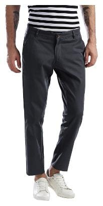 Hubberholme Men Black Solid Slim fit Regular trousers