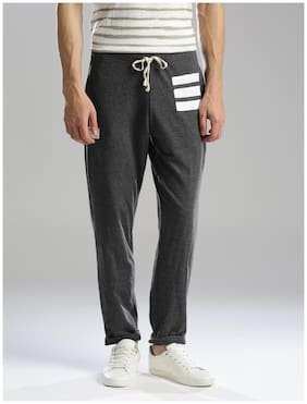 Hubberholme Men Cotton Track Pants - Black