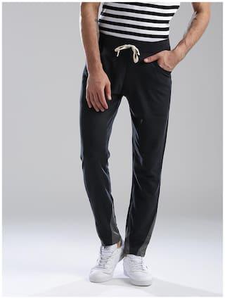 Hubberholme Men Cotton Track Pants - Blue