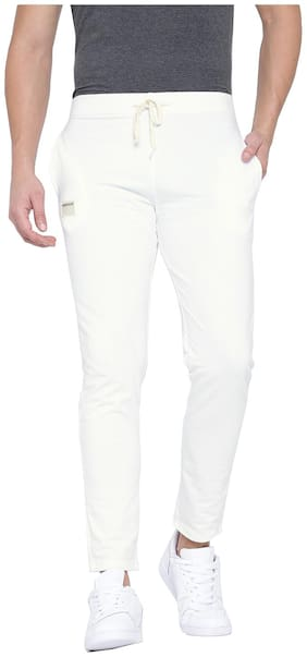 Hubberholme Men Cotton blend Track Pants - White
