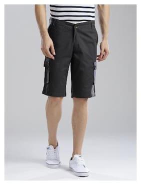 Men Solid Cargo Shorts