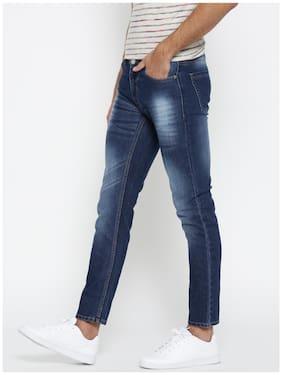 Hubberholme Men's Mid Rise Slim Fit Jeans - Blue