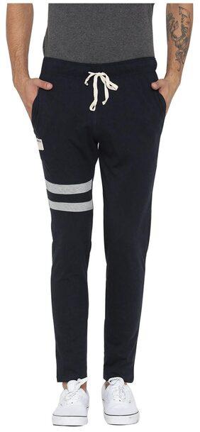 Hubberholme Men Cotton Blend Track Pants - Black