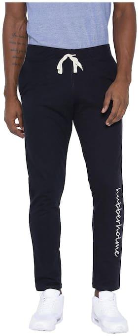 Hubberholme Men Cotton Blend Track Pants - Navy Blue
