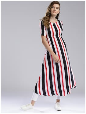 Women Striped A Line Kurta
