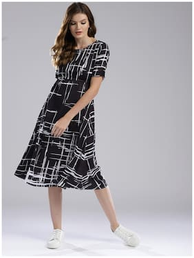 Women Printed Straight Kurti Dress