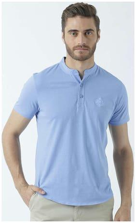 Men Mandarin Collar Solid T-Shirt Pack Of 1