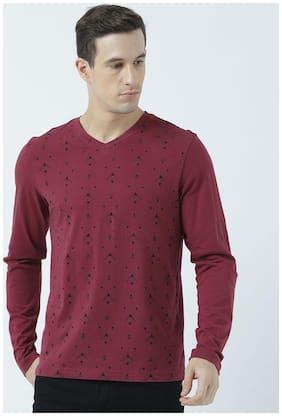 Men V Neck Graphic Print T-Shirt Pack Of 1