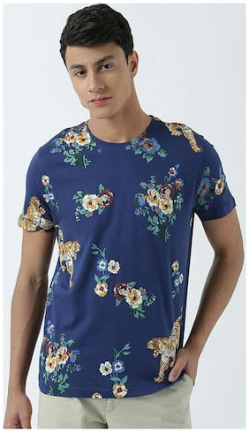 Men Round Neck Printed T-Shirt Pack Of 1