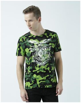 Huetrap Mens Stay top of the trend Round neck camouflage Tshirt