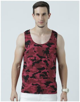 Huetrap Mens Free Spirited - Camouflage Sleeveless Tee