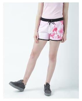Women Rayon Slim Fit Shorts