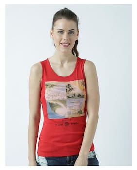 Huetrap Womens Be yourself Red Tank Top