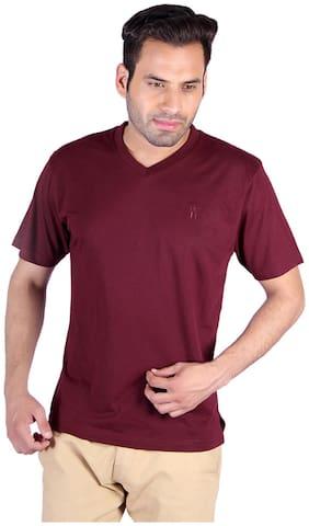 Humbert Maroon Cotton T-Shirt