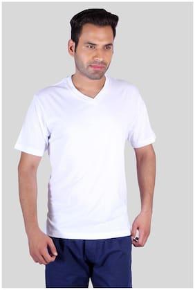 Humbert White Cotton T-Shirt