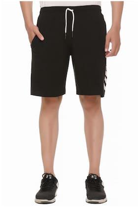 HVBK Men Black Regular Fit Regular Shorts
