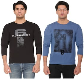 Men Round Neck Printed T-Shirt Pack Of 2