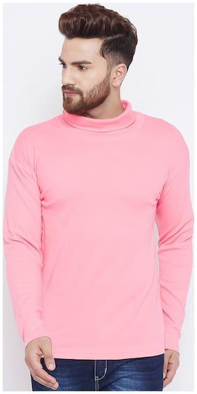 Hypernation Solid Men High Neck T-Shirt