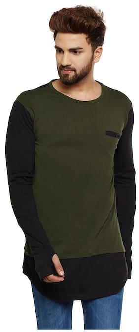 ee76d313cf4 Hypernation Men Regular Fit Round Neck Solid T-Shirt - Red