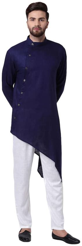 I Know Men Blue Regular Fit Kurta