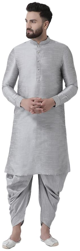I Know Men Silver Regular Fit Kurta