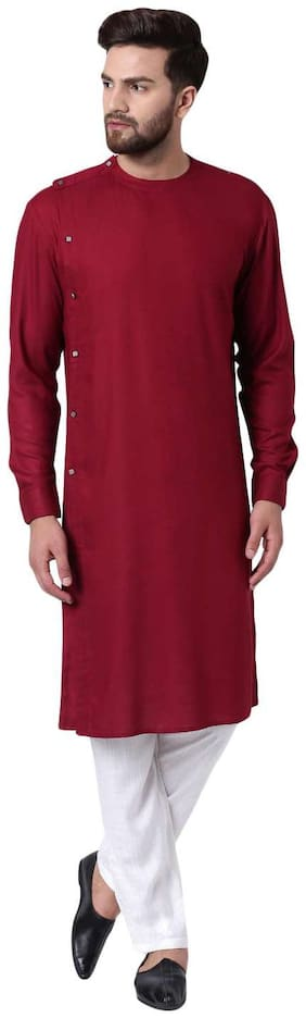I Know Men Maroon Regular Fit Kurta