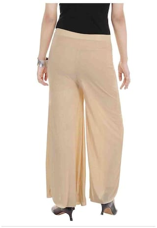Girls Free Shop Palazzo Women's I amp; Size Color Pant Skin Silk qPT1wUZ
