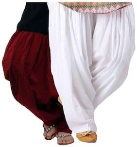 I Shop Cotton Salwar - White