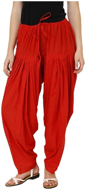 I Shop Cotton Patiala - Red