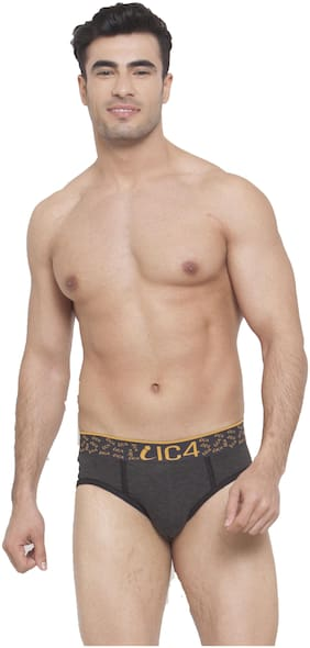IC4 Solid Briefs - Grey ,Pack Of 1