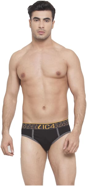 IC4 Solid Briefs - Black ,Pack Of 1