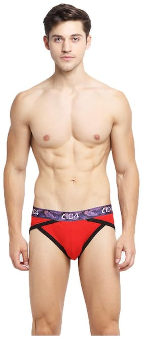 IC4 Solid Briefs - Red ,Pack Of 1