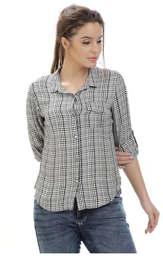 Identiti Women Checks Blue Shirt